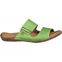 El Naturalista ND75 Wakataua Slide Green, leather slip on sandal