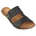 El Naturalista ND75 Wakataua Slide Black, leather slip on sandal