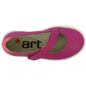 The Art Company A535 Youth Dover Soft Fuchsia, soft leather ballet flat