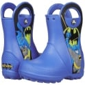 Crocs Kids Handle it Rain Boot Batman Sea Blue, Easy on wellington