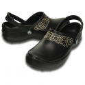 Crocs Mercy Work Black/Gold, Fully molded Croslite clog, with Crocs Lock non slip soles and back strap