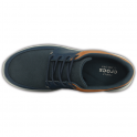 Crocs Mens Kinsale Lace Up Navy/Light Grey, the perfect casual leather shoe