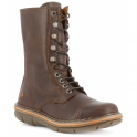 The Art Company 0436 Assen Boot Brown, zip up leather boot with front laced detail