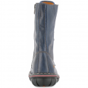 The Art Company 0436 Assen Boot Blue, zip up leather boot with front laced detail