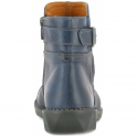 The Art Company 0917 Bergen Boot Blue, zip up leather ankle boot with buckle detail