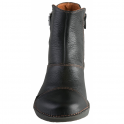 The Art Company 0917 Bergen Boot Black, zip up leather ankle boot with buckle detail