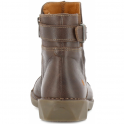 The Art Company 0917 Bergen Boot Brown, zip up leather ankle boot with buckle detail