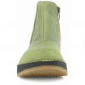 The Art Company 1022 Heathrow Khaki, short leather ankle boot with zip fastening