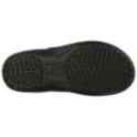 Crocs Freesail Plush Lined Clog Black/Gold (Leopard), slimmer sleeker for a more feminine shape