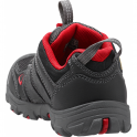 KEEN Youth Oakridge Low WP Black/Tango Red, hiker-inspired easy on and off waterproof shoe