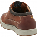 KEEN Mens Glenhaven Tortoise Shell, waxy leather shoe with a choice of laces