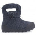 Bogs 720131 Infant B-Moc Fleece Navy, 100% waterproof wellington boots with adjustable draw cord system