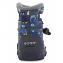 720141 Infant B-Moc Puff Owl Navy Multi, 100% waterproof wellington boots with adjustable draw cord system