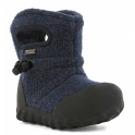 Bogs 72012 Junior B-Moc Fleece Navy, 100% waterproof wellington boots with adjustable draw cord system
