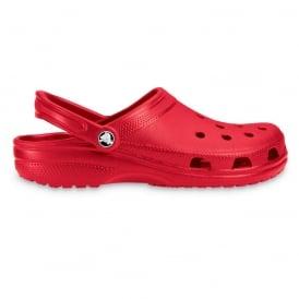 Classic Shoe Red, Original Crocs slip on shoe