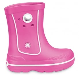 Crocs Kids Jaunt Boot Fuchsia, Lightweight and funky sneakered inspired waterproof boot