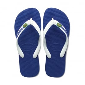 Havaianas Brasil Logo Marine Blue, the original flip flop