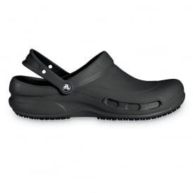 Bistro Black, Enclosed croslite work clog with Crocs Lock slip resistant soles