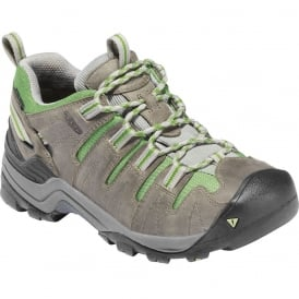 KEEN Womens Gypsum Neutral Gray/Jade Green, lightweight hiker ideal for comfort and stability