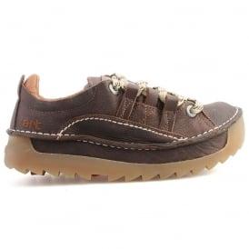 The Art Company 0590 Skyline Shoe Overland Moka, Chunky leather lace up shoe
