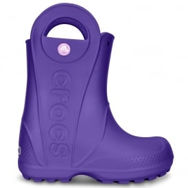 Crocs Kids Handle it Rain Boot Ultraviolet, Easy on wellington
