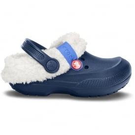 Crocs Kids Blitzen II clog Navy/Oatmeal, easy to remove liner