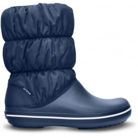 Crocs Womens Winter Puff Boot Navy/Navy, puffed boots for warmth