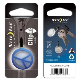 Nite Ize ClipLit Blue Peace, Bright LED light and built-in carabiner