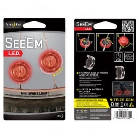 Nite Ize See'Em Red, 2 pack bicycle clips, keeping night riders safe