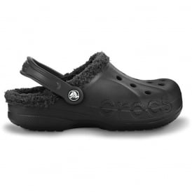 Crocs Baya Lined Black/Black, Fully molded Croslite shoe with fixed fuzzy liner