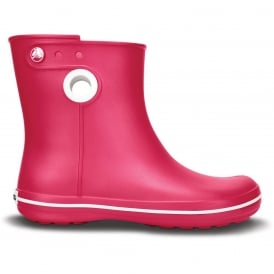 Crocs Jaunt Shorty Boot Raspberry, Fully molded Croslite mid height waterproof boot
