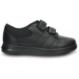 Crocs Uniform Shoe PS Black, comfortable leather school shoe