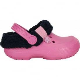 Crocs Kids Blitzen II Clog Party Pink/Nautical Navy, easy to remove liner