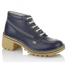 Kopey Hi Womens Dark Blue, Classic Kickers styling with a taller, girlier, glammer heel