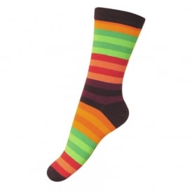 Melton Sock Colourline 731 Plum, Cosy cotton socks