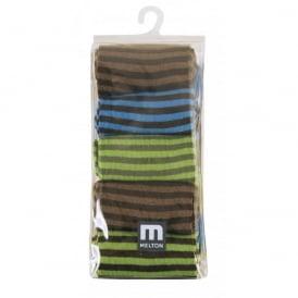 Melton Socks 5 Pack Stripes 219 Colbalt, Cosy cotton socks
