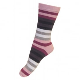 Melton Sock Colourline 512 Soft Pink, Cosy cotton socks