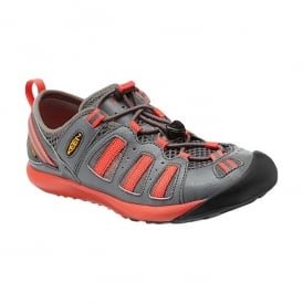 KEEN Womens Class 5 Tech Gargoyle/Hot Coral, water shoe transitions easily from water to land