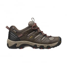 KEEN Mens Koven WP Black Olive/Bossa Nova, ensuring secure footing on rugged trails, dusty trails and steep slopes, an ideal shoe for all seasons