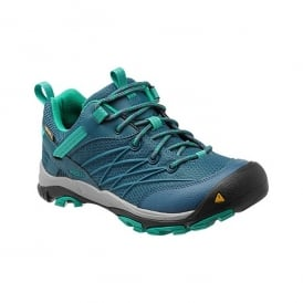 KEEN Womens Marshall WP Indian Teal/Dynasty Green, The perfect hiking shoe for your next best adventure in a low cut style
