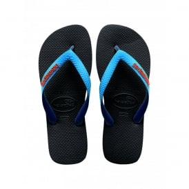 Havaianas Top Mix Black/Capri, two tone straps