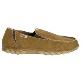 Dude Farty Classic Nut, canvas slip on mule