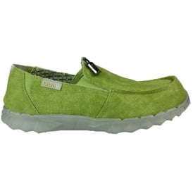 Dude Farty 2 Lime (Prato), canvas slip on mule