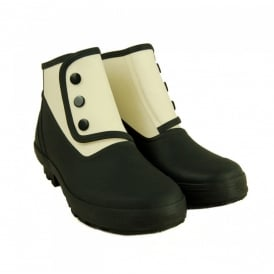 Spats Classic 2 tone Black/Antique White, Fully waterproof style led boot