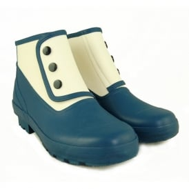 Spats Classic 2 tone Prussian Blue/Antique White, Fully waterproof style led boot