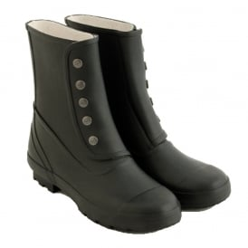 Spats Tall Plain Black, Fully waterproof style led boot