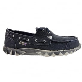 Dude Puchi Canvas Navy, Deck style lightweight shoe
