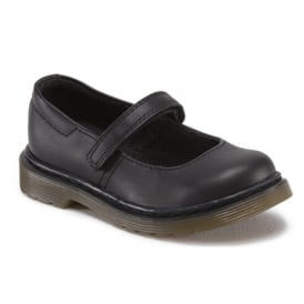 Dr Martens Kids Tully Plain Black, Mary Jane shoool shoe