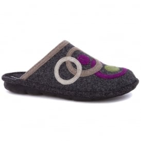 Romika Mikado Adult 70 Slipper Grey, comfort shoe with hardwearing outer sole