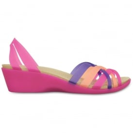 Crocs Womens Huarache Mini Wedge Violet/Melon, light weight and a lot of fun